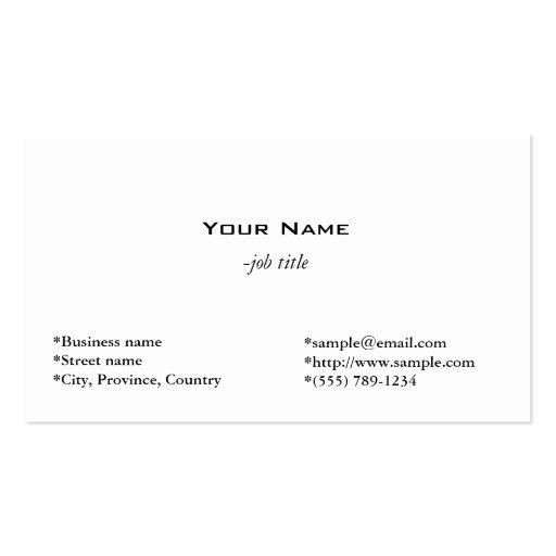 plain, simple business card template
