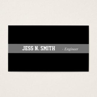 Plain,simple,elegant black business card.