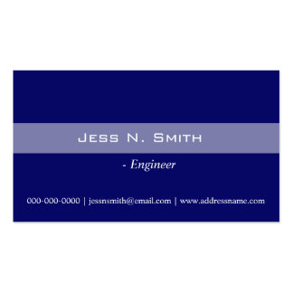 Plain simple elegant blue business card business card