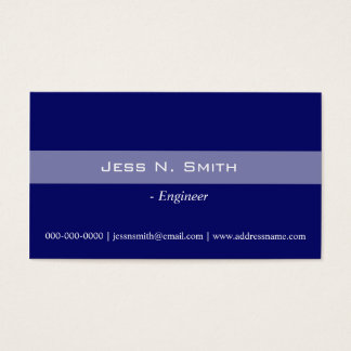 Plain,simple,elegant blue business card.