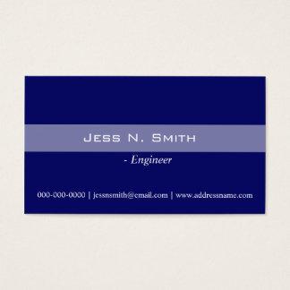 Plain,simple,elegant blue business card. business card