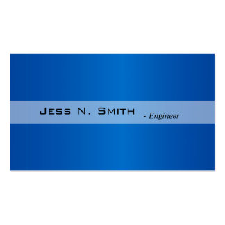 Plain,simple,elegant blue business card. pack of standard business cards