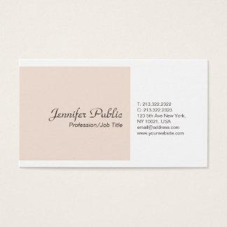 Plain Simple Elegant Colors Modern Professional Business Card