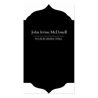 Plain & Simple Framed Black Vertical Professional Pack Of Standard Business Cards