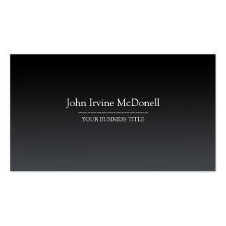 Plain Simple Gradient Black Business Card