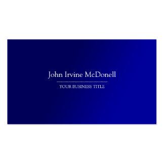 Plain Simple Gradient Blue Business Card