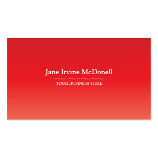 Plain & Simple Gradient Red Business Card