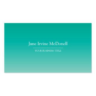 Plain & Simple Gradient Sea Foam Business Card