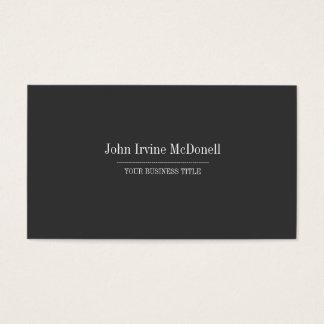 Plain & Simple Gray Business Card