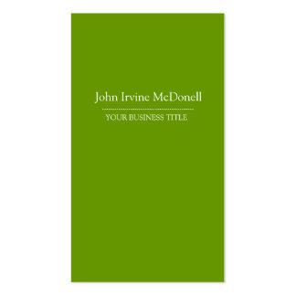 Plain & Simple Green Vertical Business Card