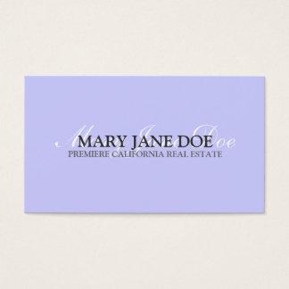 Plain & Simple Light Periwinkle Business Card