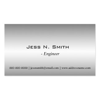Plain simple metal shining business card business cards