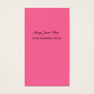 Plain & Simple Pink Vertical Business Card