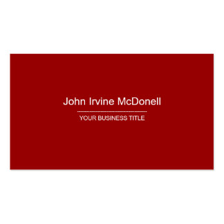 Plain & Simple Red Business Card