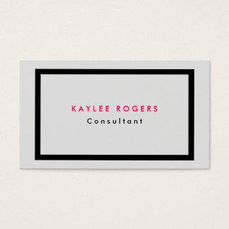 Plain Sophisticated Minimalist Grey Professional Business Card
