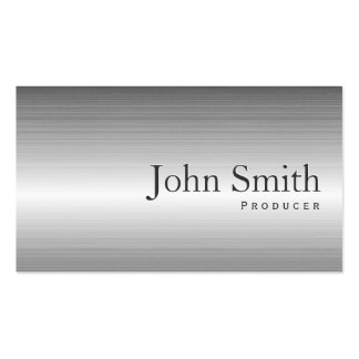Plain Steel Metal Producer Business Card