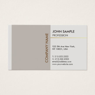 Plain Stylish Modern Professional Elegant Design Business Card
