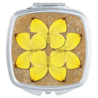 Plain Sulphur Butterfly Wheel Vanity Mirrors