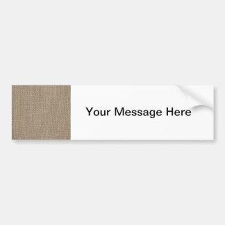 Plain tan burlap background template bumper sticker