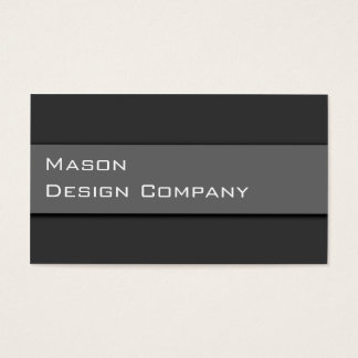 Plain Two Tone Gray Corporate Stylish Card