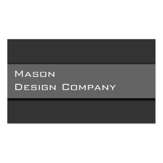 Plain Two Tone Gray Corporate Stylish Card Pack Of Standard Business Cards