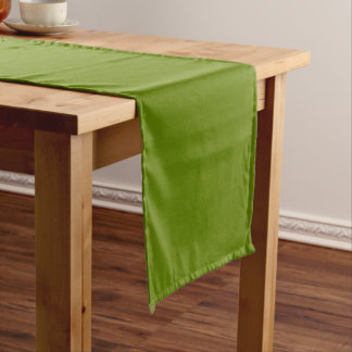 Plain Watermelon Dark Green table runner