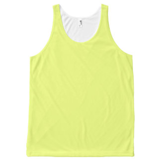 Plain Watermelon Yellow Green all over tank top