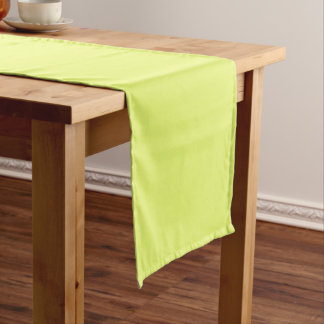 Plain Watermelon Yellow Green table runner