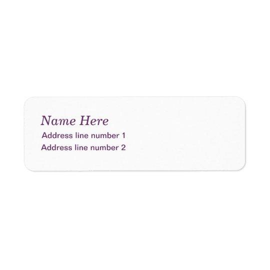 Plain white address label