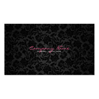 Plain White & Black Vintage Floral Damasks Pack Of Standard Business Cards