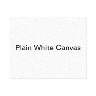 Plain White Canvas Gallery Wrapped Canvas