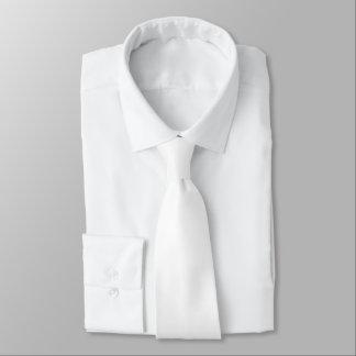 Plain White Color Tie