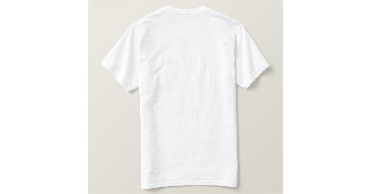 Plain white embroidered mens monogram template embroidered for Zazzle t shirt template