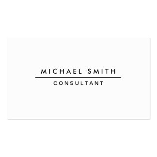 Plain White Professional Elegant Modern Simple Pack Of Standard Business Cards