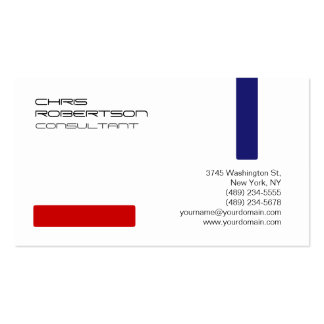 Plain White Red Blue Attractive Business Card