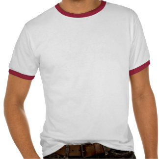 Plain white, red ringer t-shirt for men