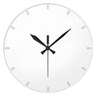 Plain White Simple Minimalist All-White Wall Clock