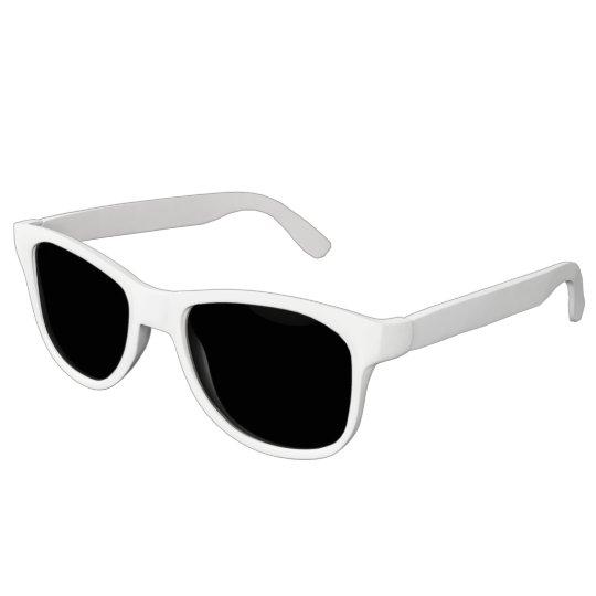Plain White Sunglasses