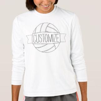 Plain White Volleyball Girl Custom Text Team Shirt
