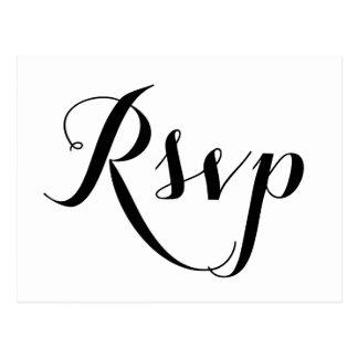 Plain White Wedding RSVP Postcards
