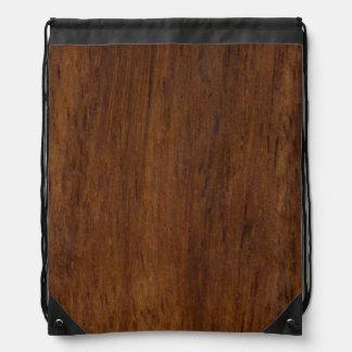 Plain Wood Plank Drawstring Bag