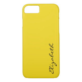 Plain Yellow Background iPhone 8/7 Case