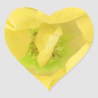 Plain YELLOW Yellowish  Flower Petal Heart Sticker