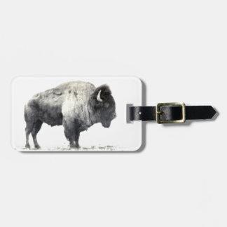 Plains Bison Luggage Tag
