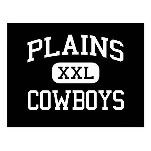 Plains - Cowboys - High School - Plains Texas Postcard