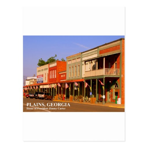 PLAINS, GEORGIA - Home of President Jimmy Carter Postcards