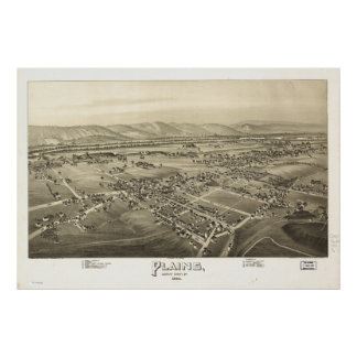Plains Pennsylvania 1892 Antique Panoramic Map Posters