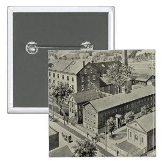 Plainville Connecticut Illustration 15 Cm Square Badge