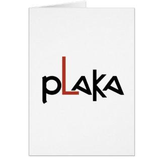 Plaka Logo Card