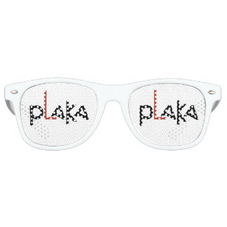 Plaka Logo Retro Sunglasses